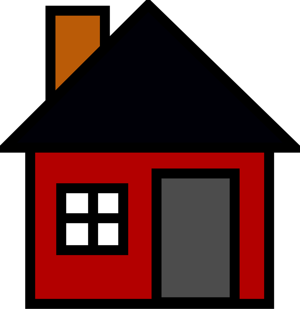 Illustration of a red house : Free Stock Photo
