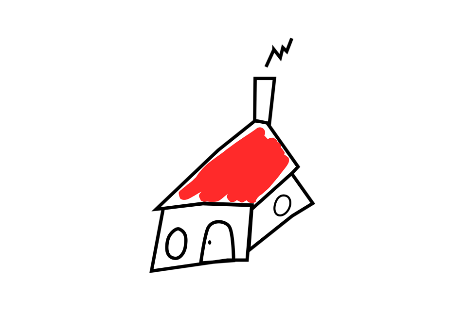 Illustration of a drawn house : Free Stock Photo