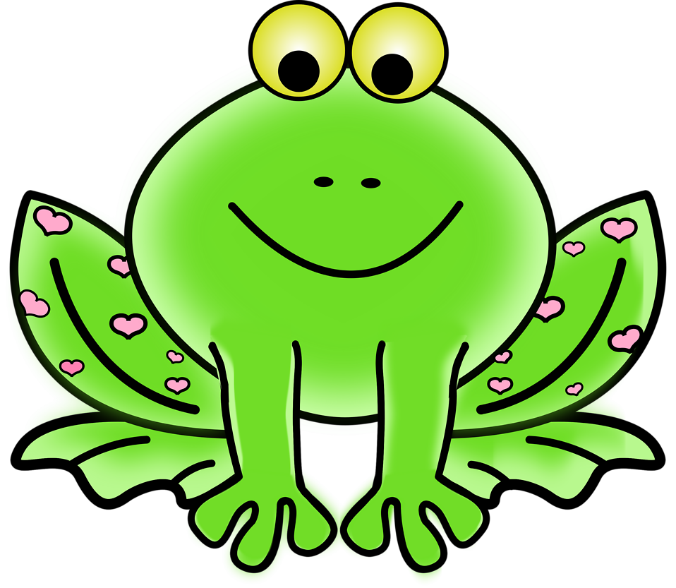 Illustration of a cartoon frog : Free Stock Photo