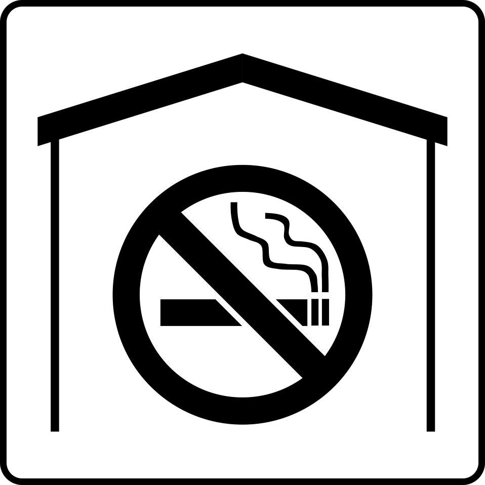 Illustration of a black and white no smoking symbol : Free Stock Photo