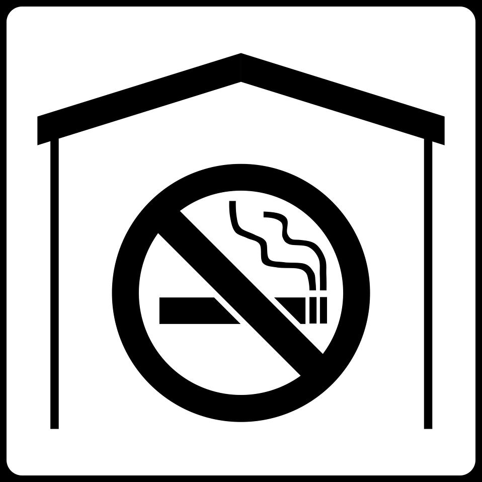 illustration of a black and white no smoking symbol free stock photo