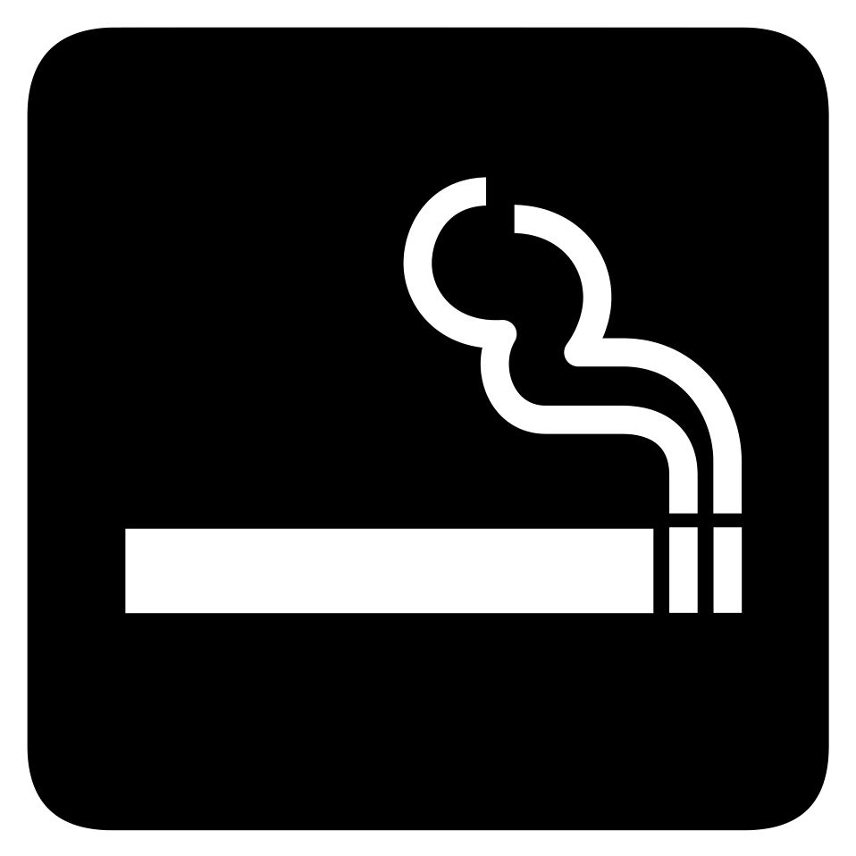 Illustration of a black and white smoking symbol : Free Stock Photo