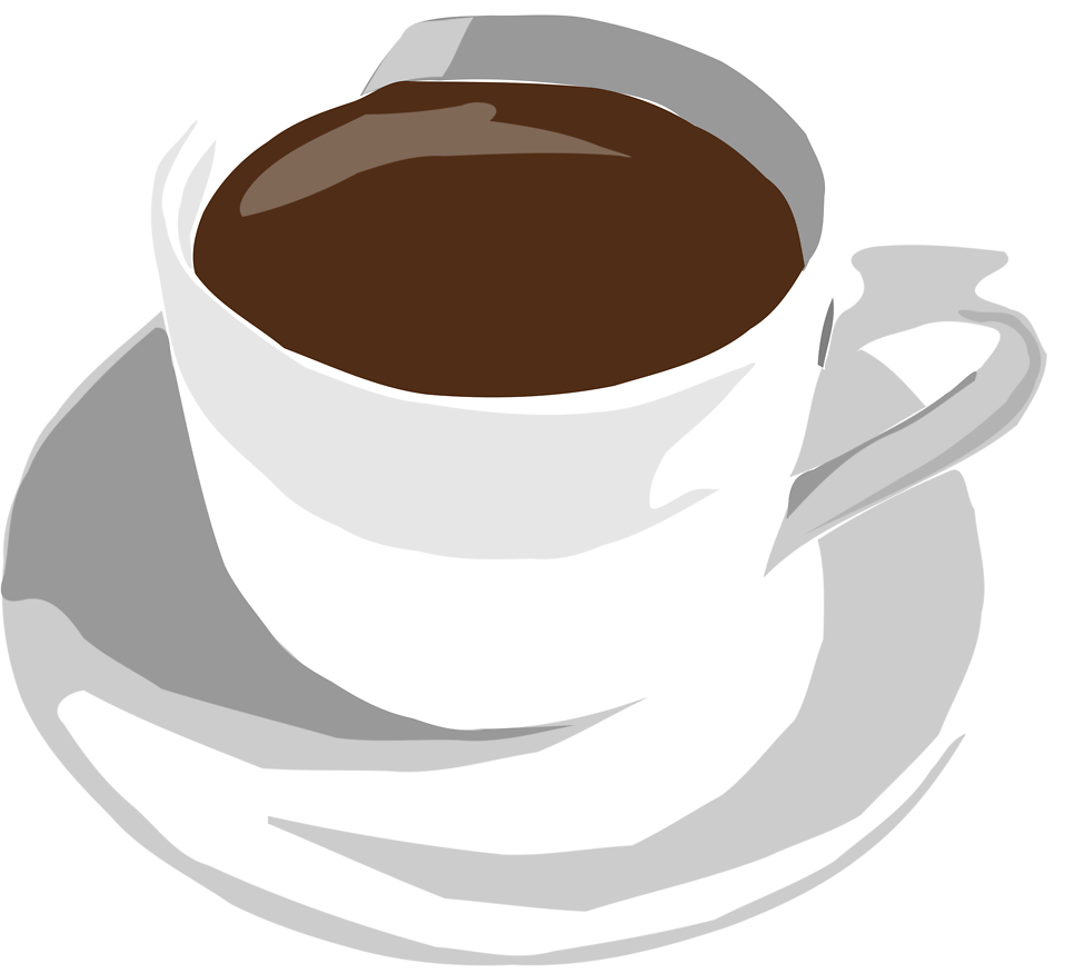 Illustration of a cup of coffee : Free Stock Photo