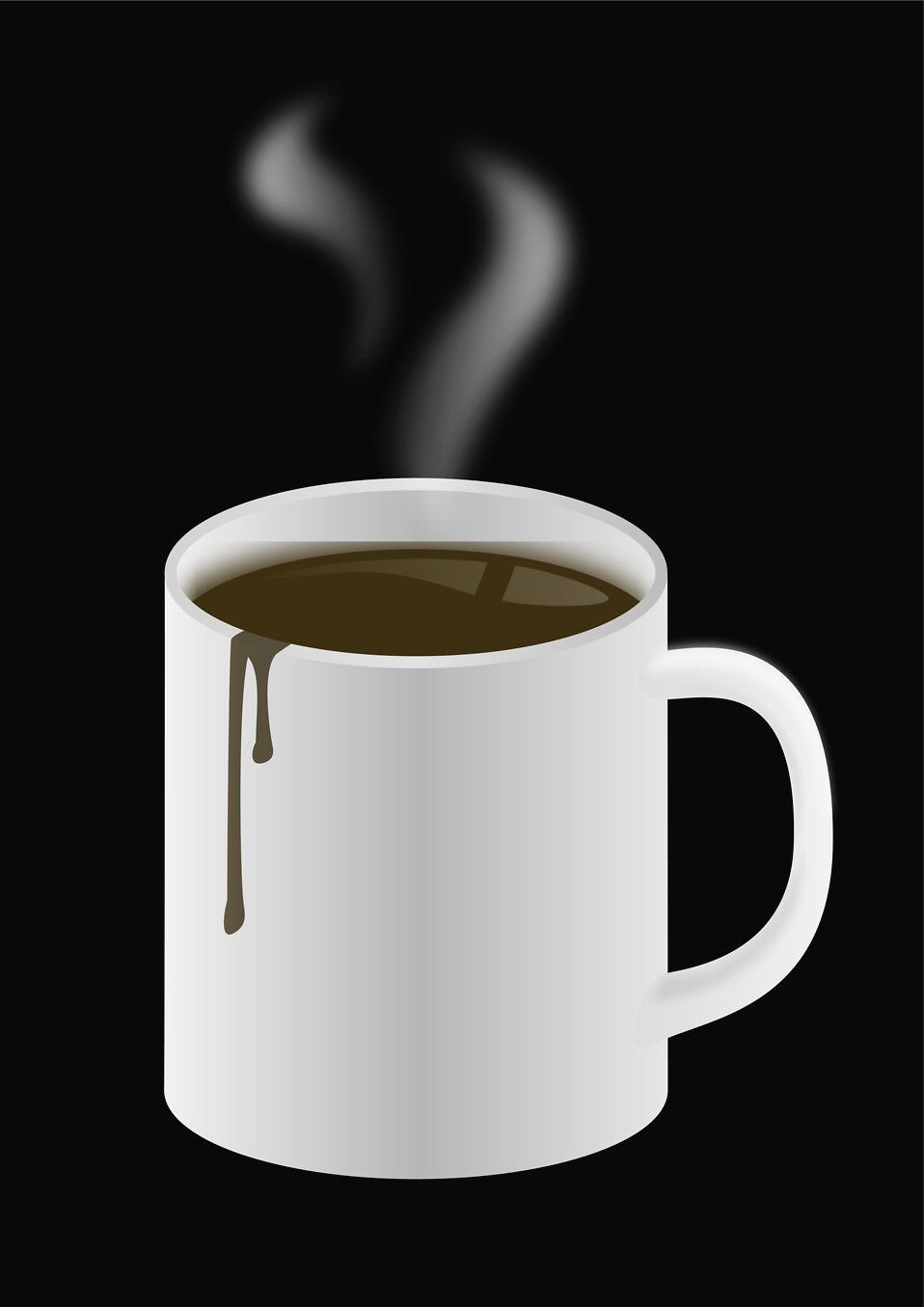 Illustration of a hot cup of coffee : Free Stock Photo