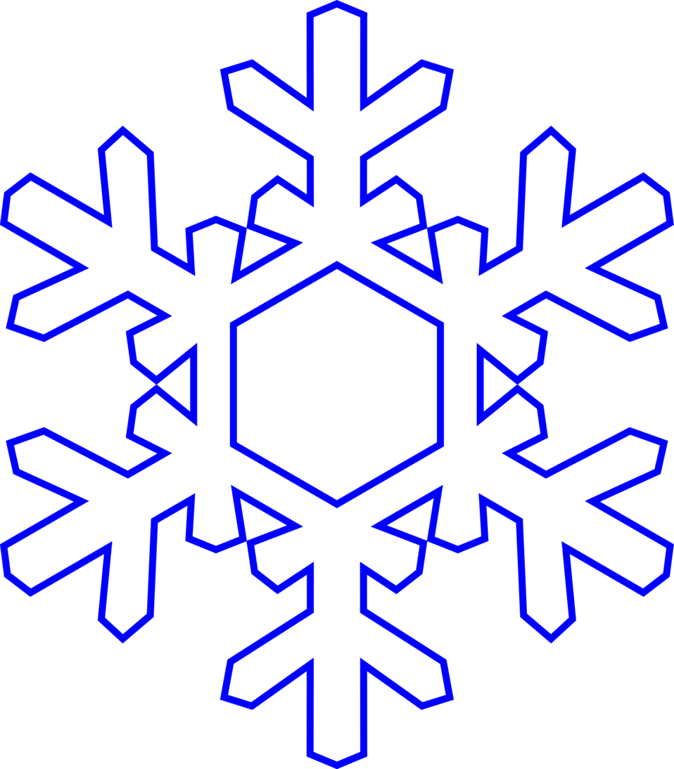 Illustration of a snowflake with a transparent background.