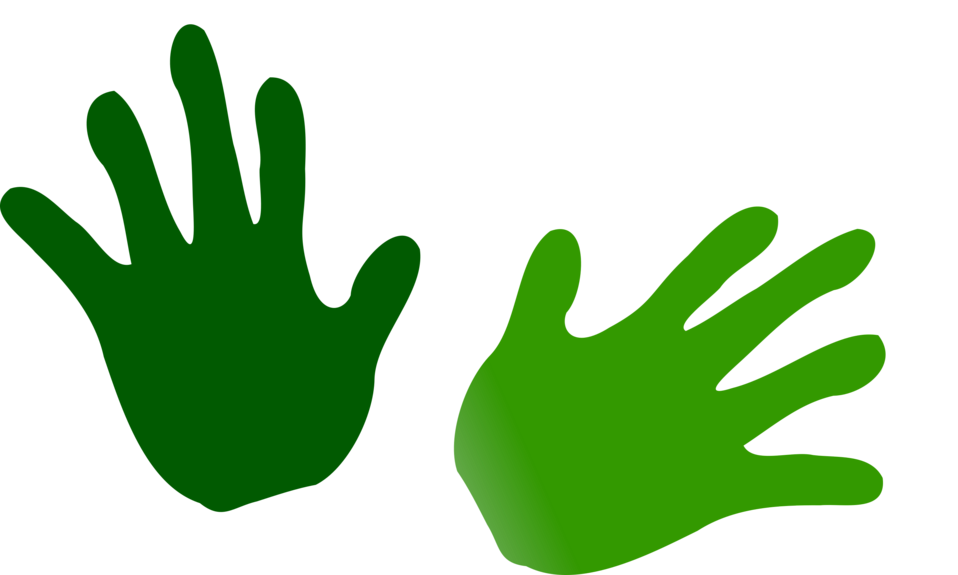 Illustration of green hand prints : Free Stock Photo