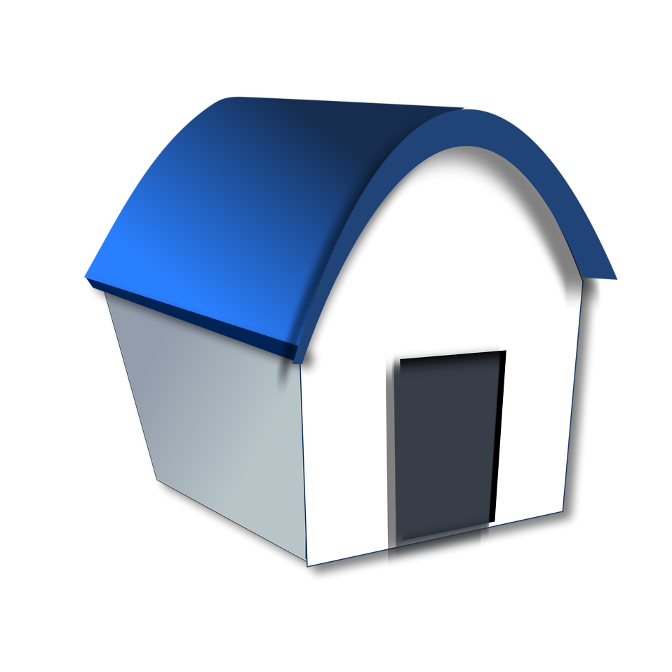 Illustration of a home with a blue roof : Free Stock Photo