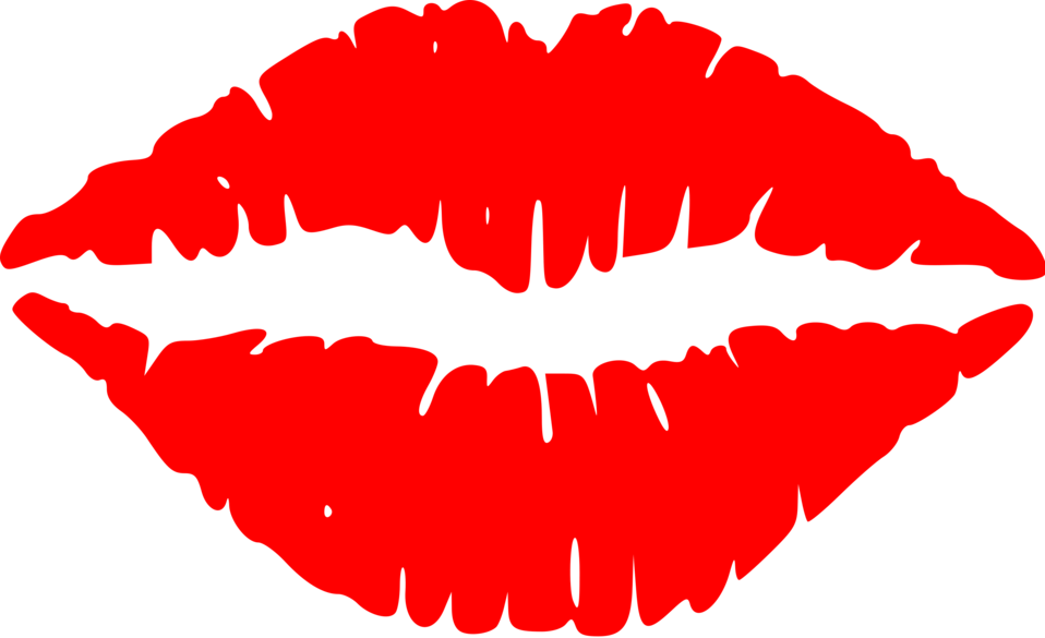 Illustration of red lips : Free Stock Photo