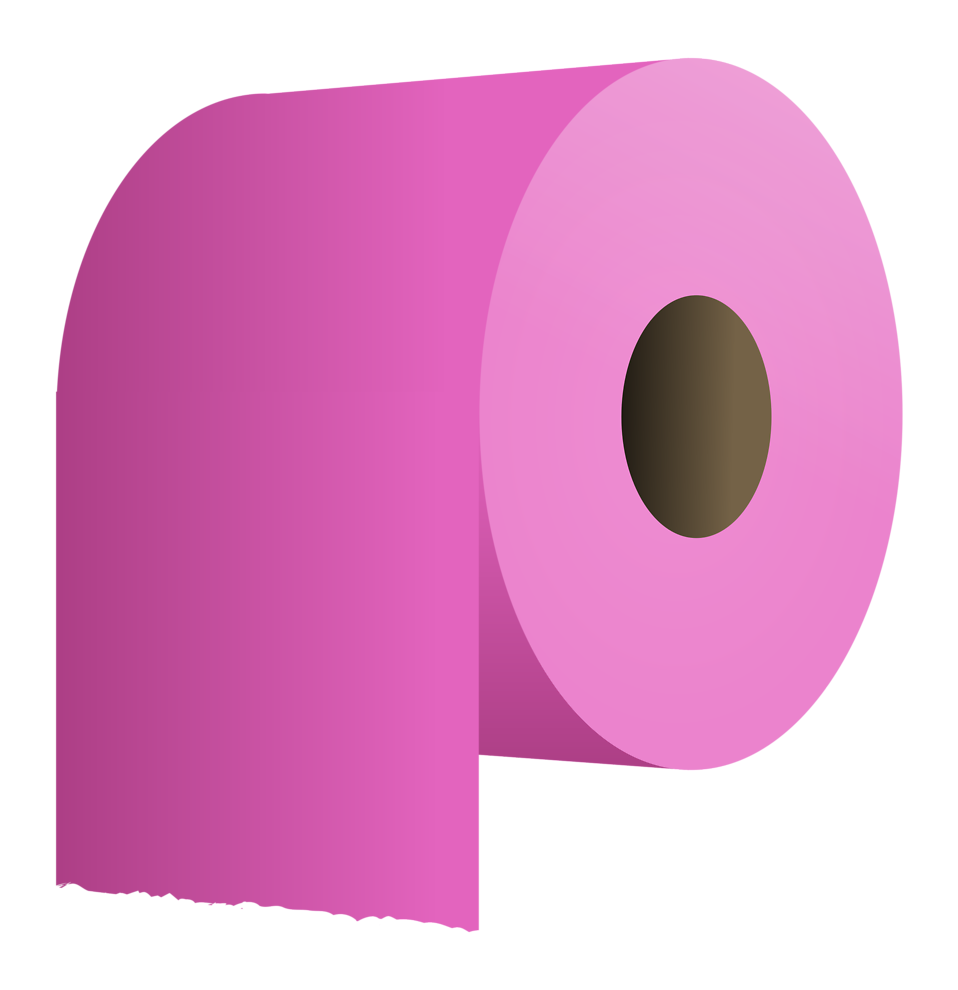 Illustration of a roll of purple toilet paper : Free Stock Photo