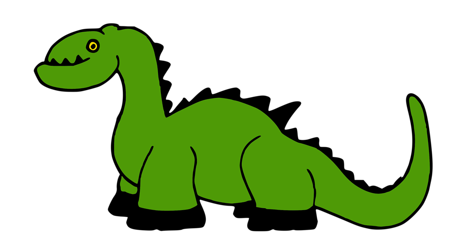 Illustration of a cartoon dinosaur : Free Stock Photo