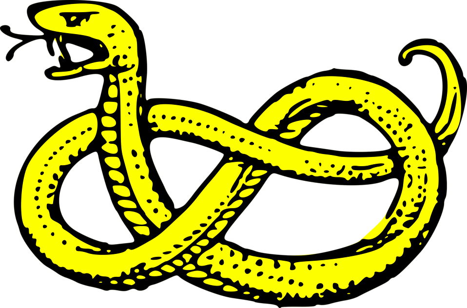 Illustration of a yellow snake : Free Stock Photo