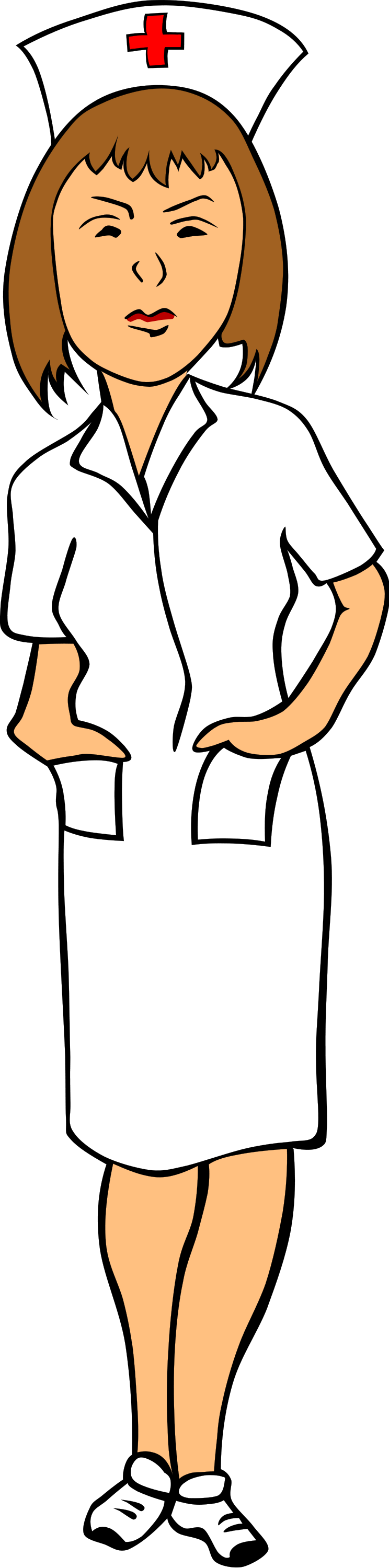 Illustration of a nurse with a transparent background.