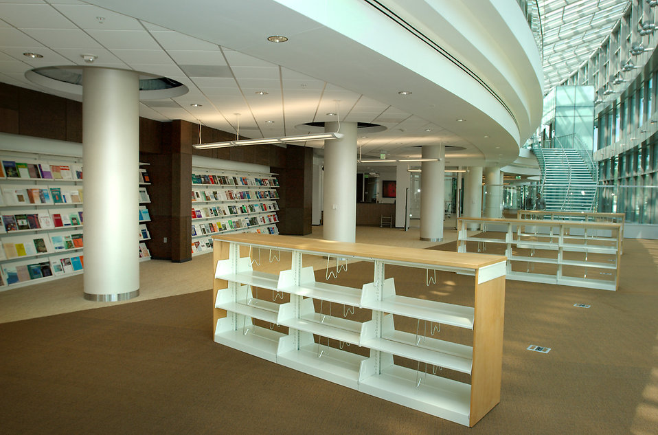 Inside of a CDC library : Free Stock Photo