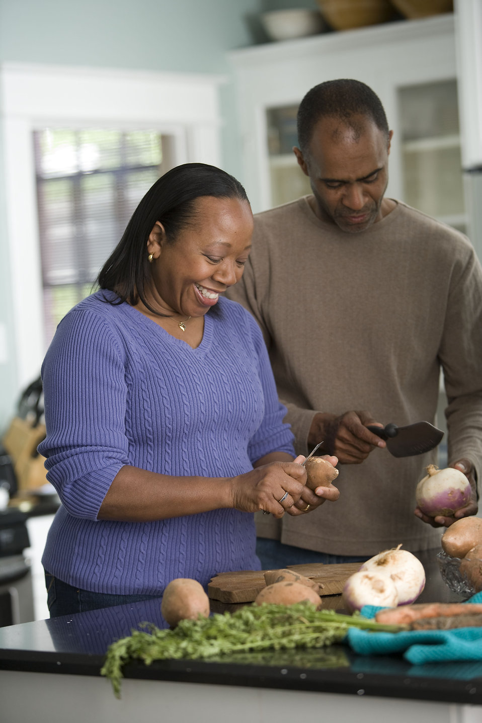 Cooking Free Stock Photo An African American Couple