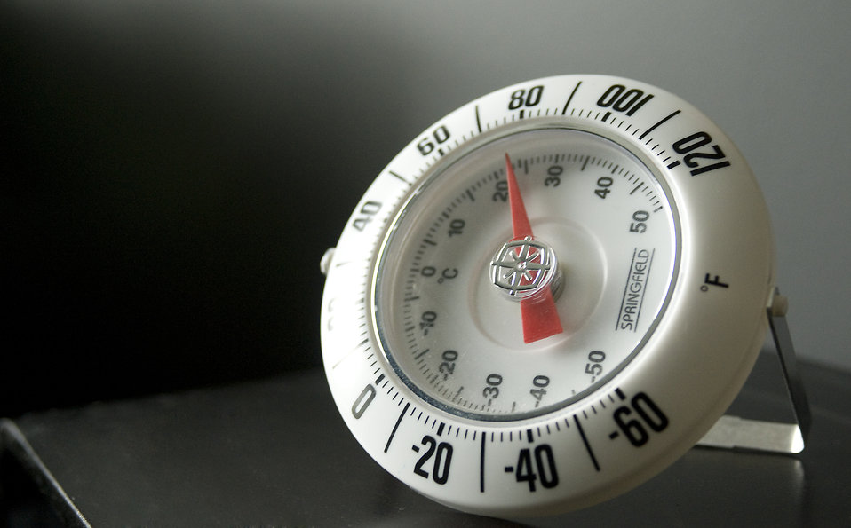 Close-up of a white thermometer : Free Stock Photo