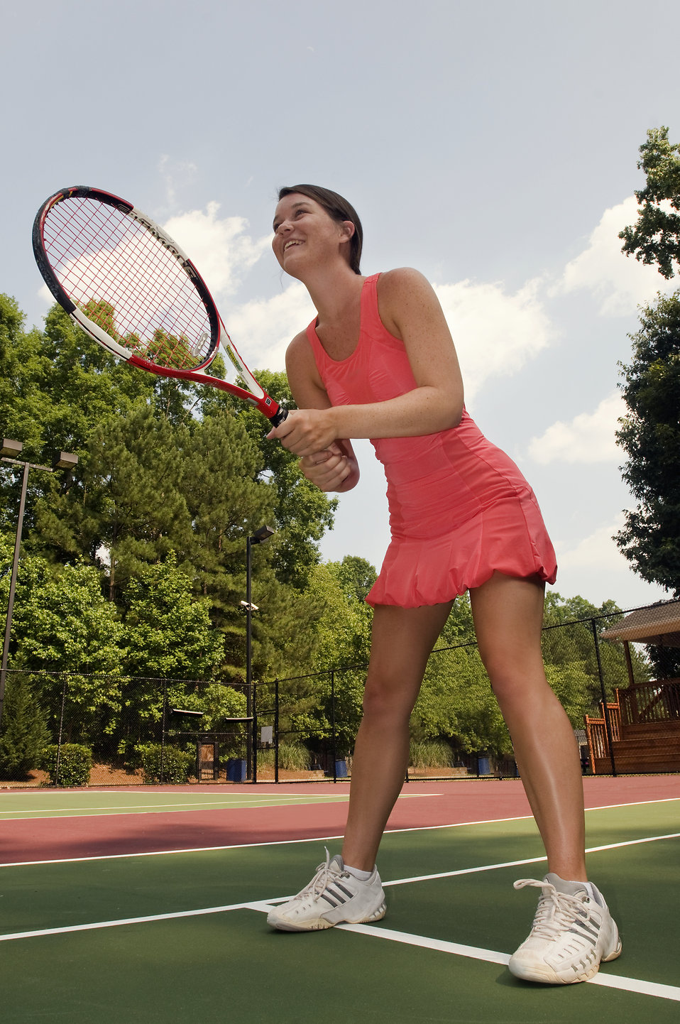 A woman playing tennis : Free Stock Photo
