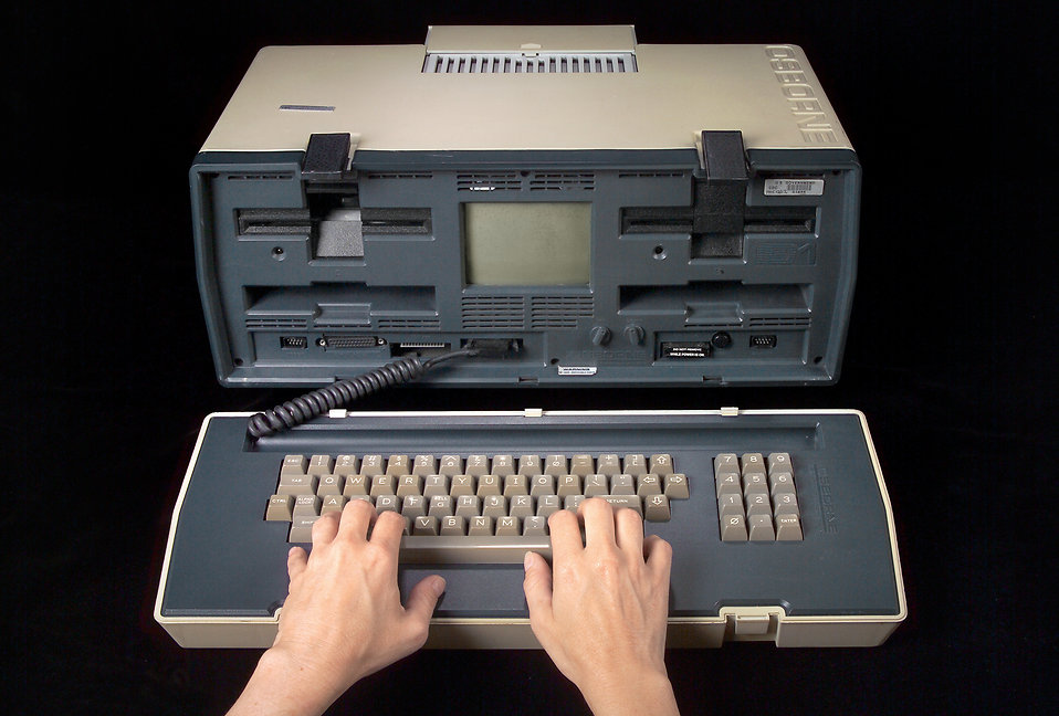 An early 1980 model of a portable computer : Free Stock Photo