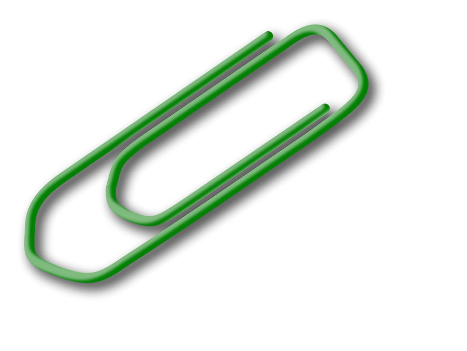 Illustration of a paper clip : Free Stock Photo
