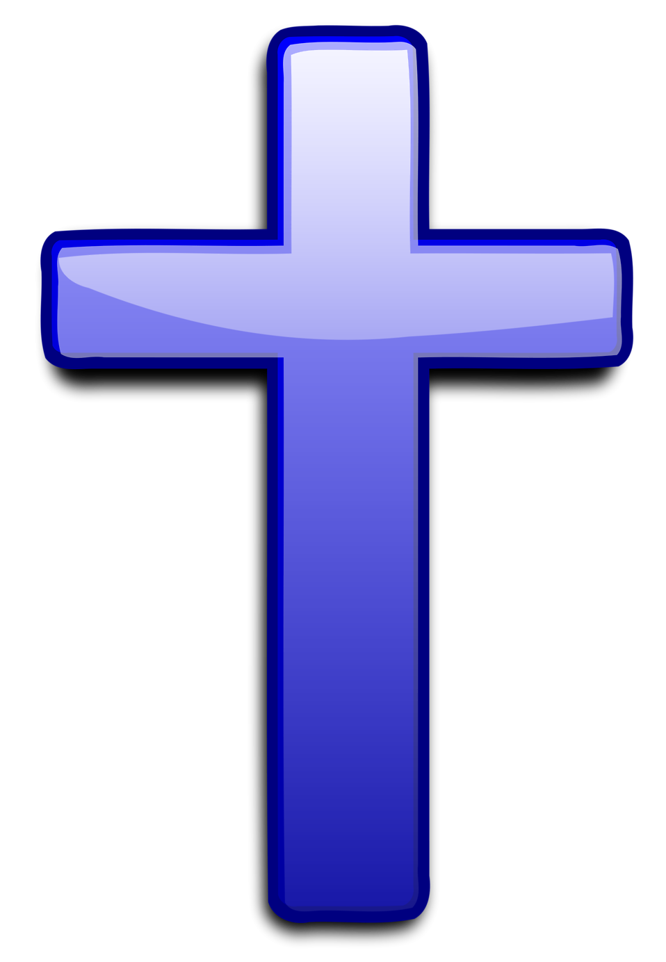 Illustration of a blue cross : Free Stock Photo