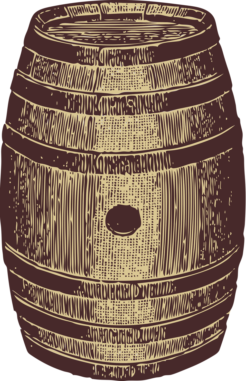 Illustration of a wooden barrel : Free Stock Photo