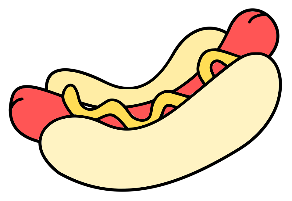 Illustration of a hotdog : Free Stock Photo