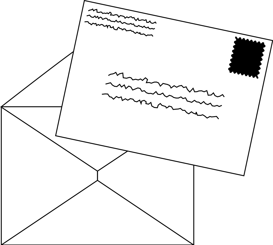 Illustration of an open envelope : Free Stock Photo