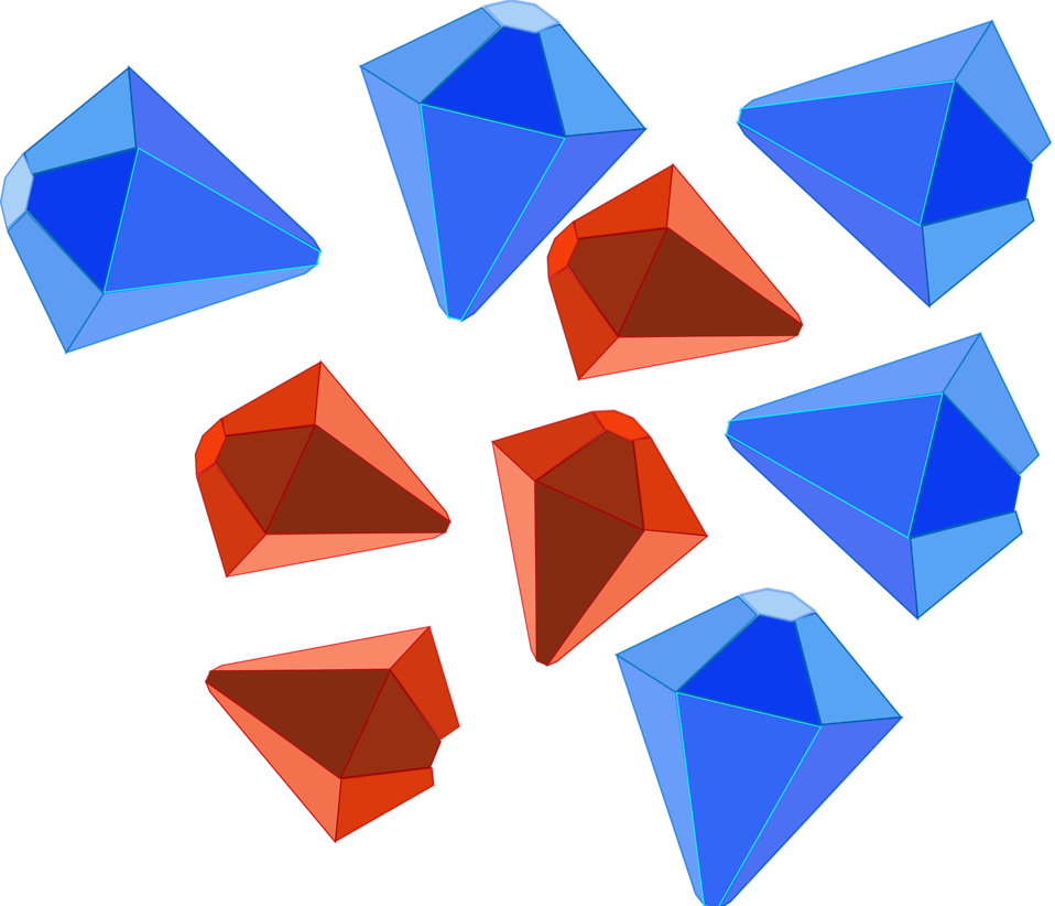 Illustration of red and blue jewels : Free Stock Photo
