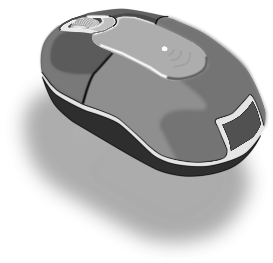 Illustration of a computer mouse with a transparent background.