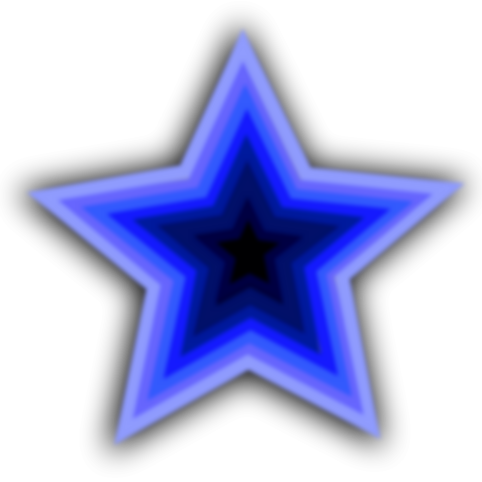 Illustration of a blue star : Free Stock Photo