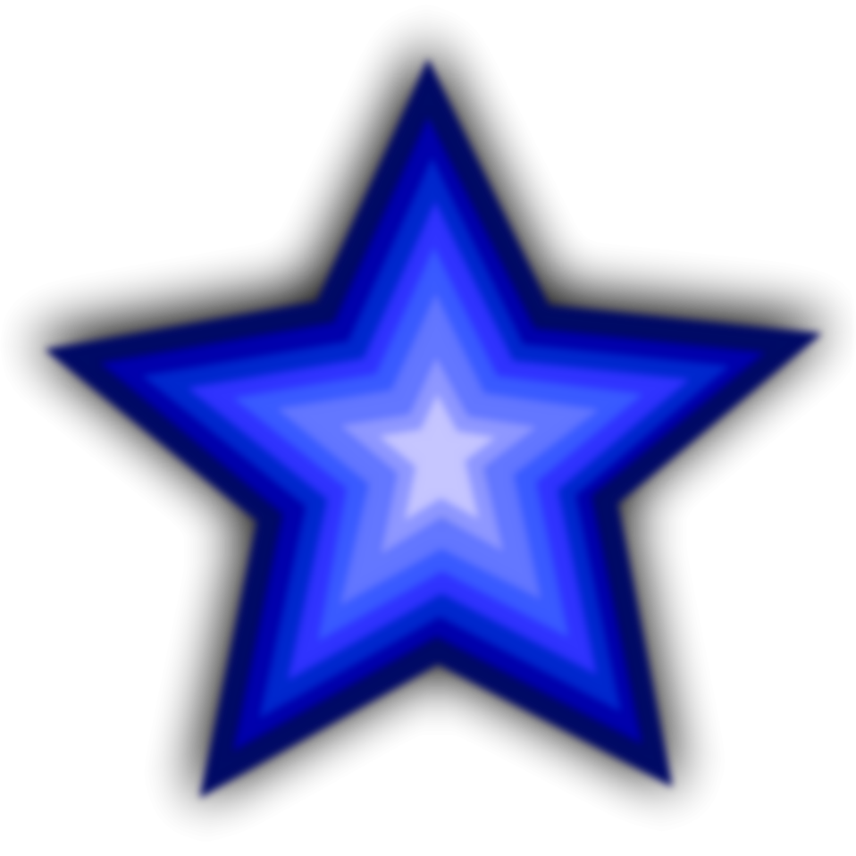 Star Blue | Free Stock Photo | Illustration of a blue star ...