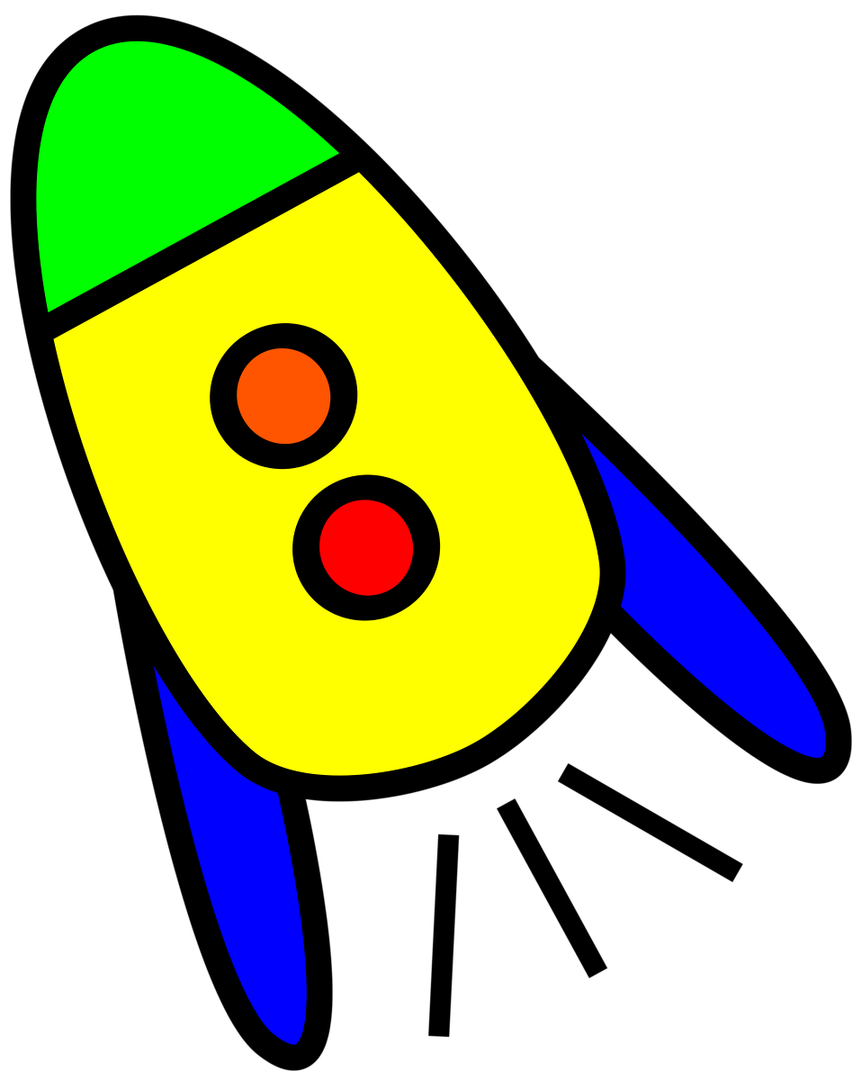 Illustration of a yellow rocket : Free Stock Photo