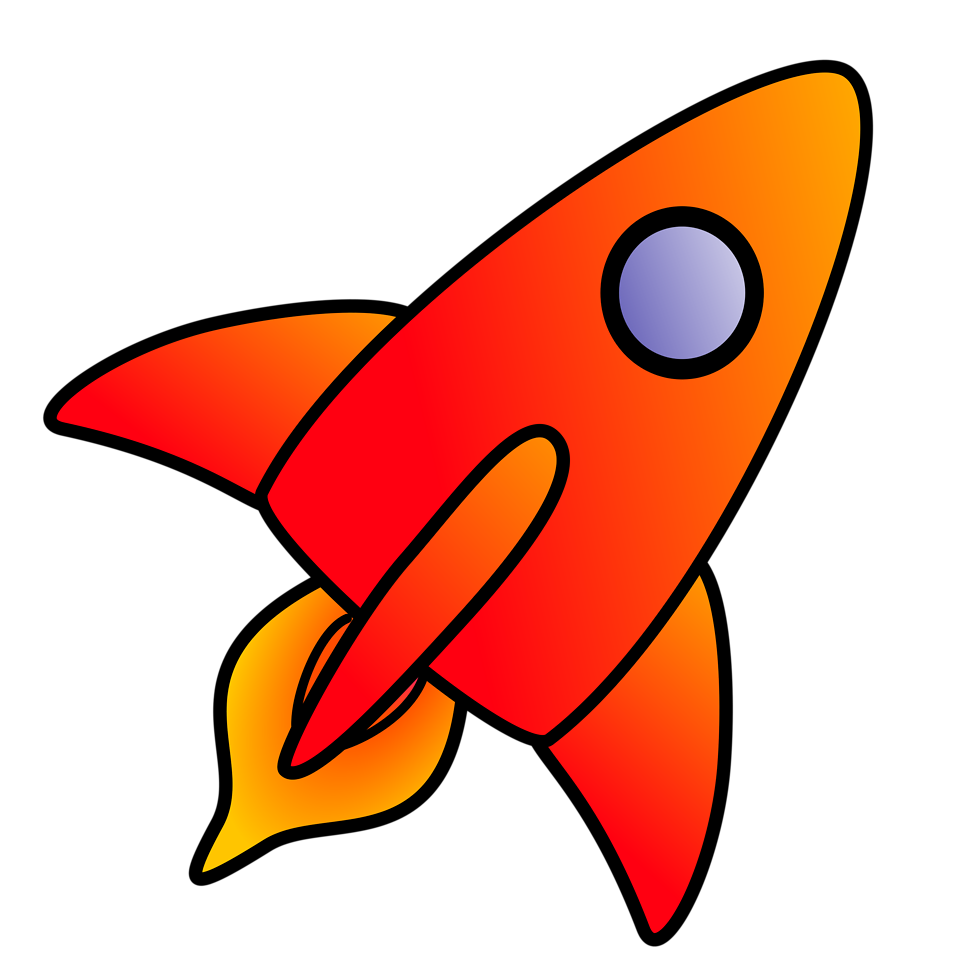Illustration of a red rocket : Free Stock Photo