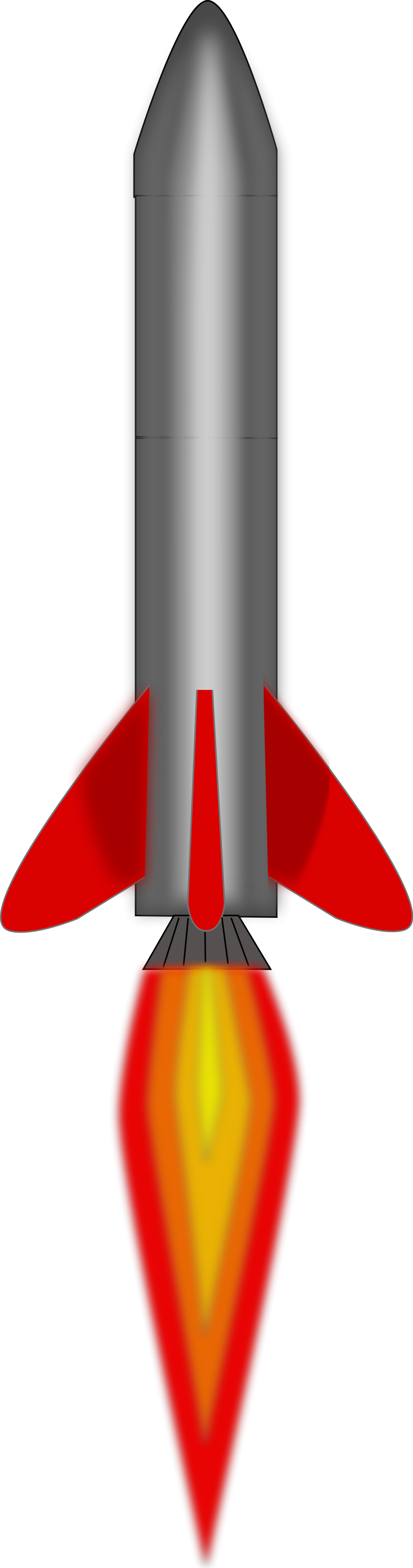 Free Stock Photo: Illustration of a red rocket with a transparent ...