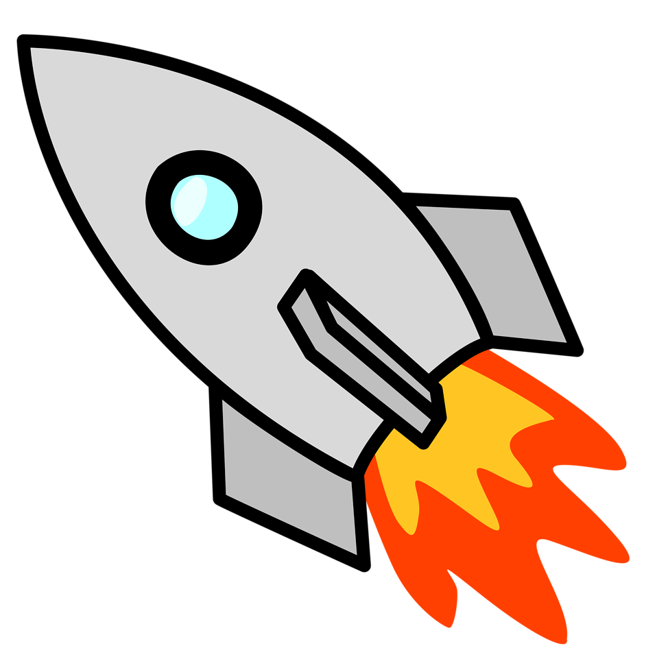 Illustration of a rocket with a transparent background.
