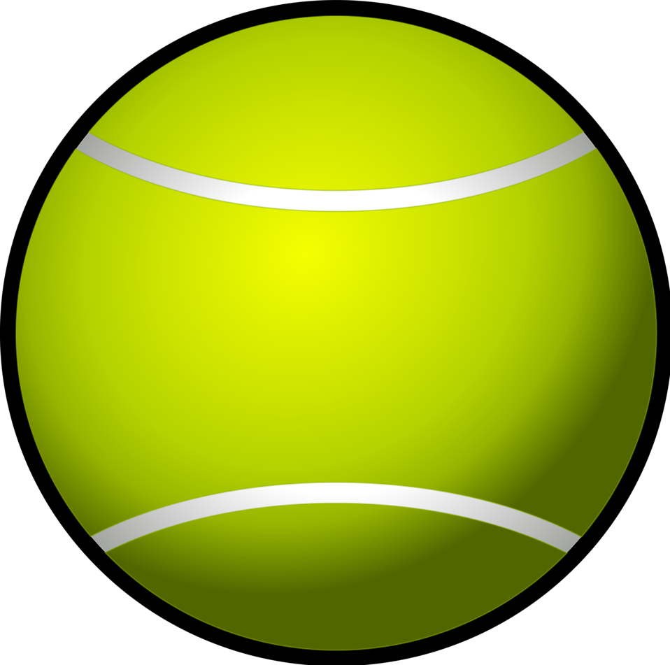 Illustration of a tennis ball : Free Stock Photo