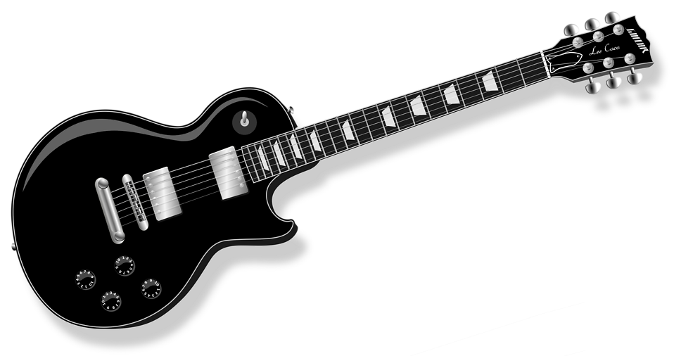 Illustration of an electric guitar : Free Stock Photo