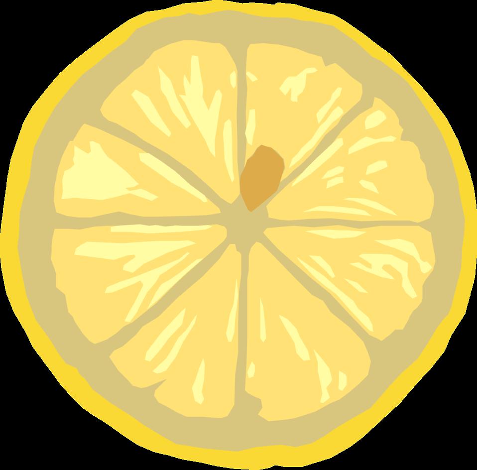 Illustration of a yellow lemon slice : Free Stock Photo