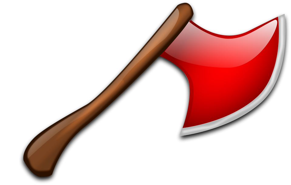 Illustration of a red axe : Free Stock Photo