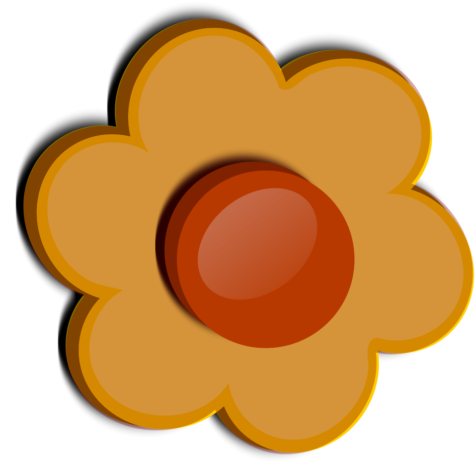 Illustration of an orange flower : Free Stock Photo