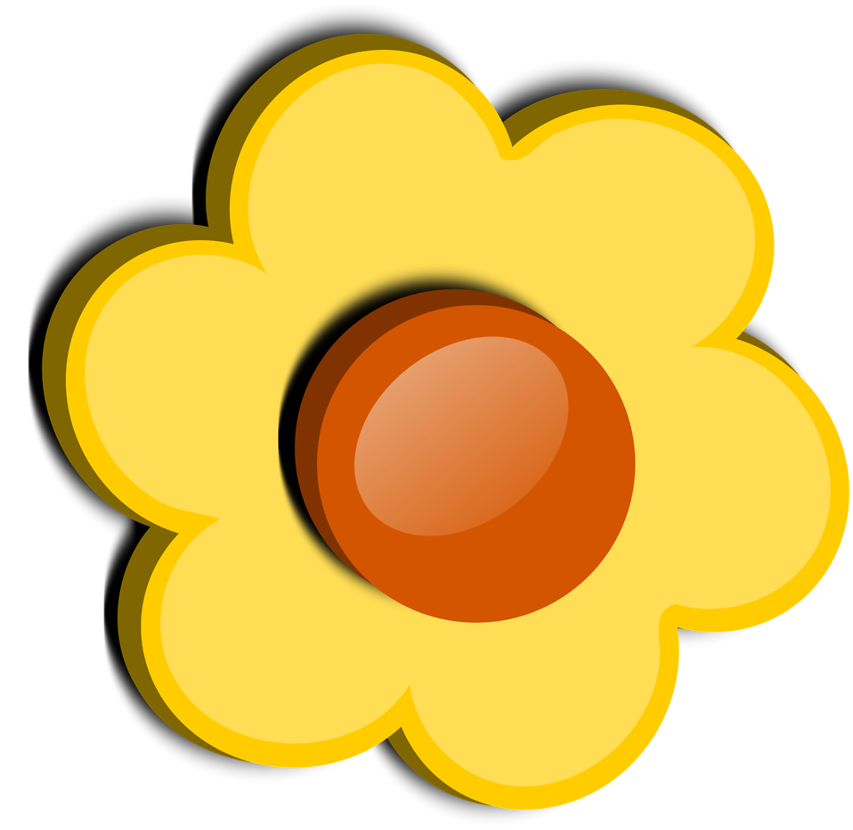 Illustration of a yellow flower : Free Stock Photo