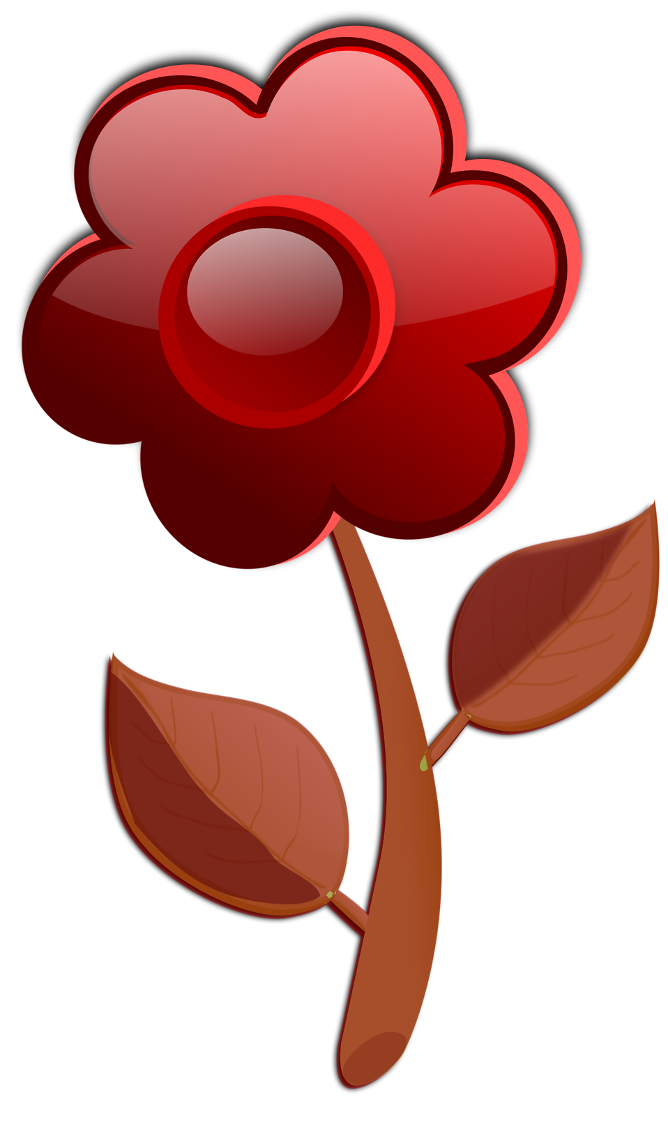Illustration of a red flower : Free Stock Photo