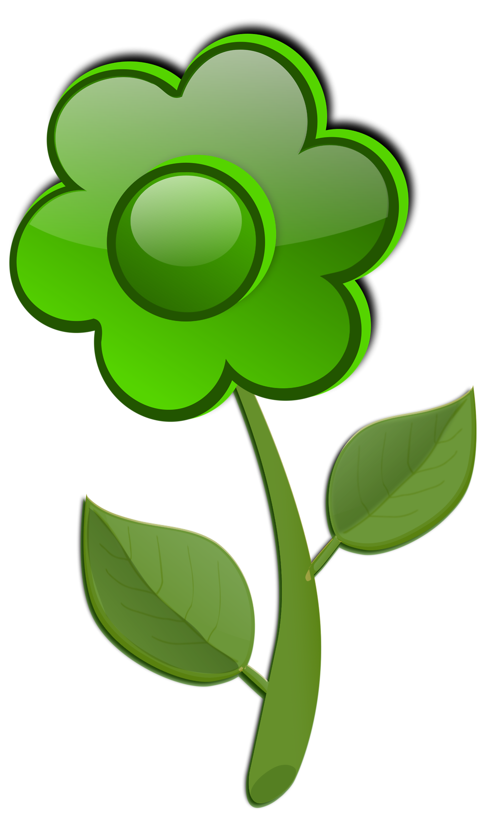 free green flower clipart - photo #7
