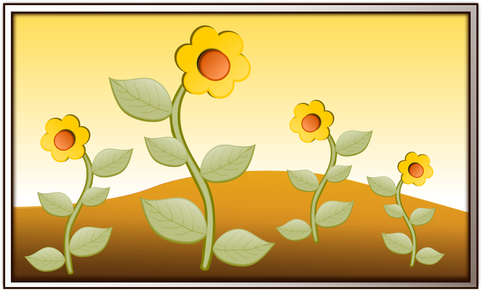 Illustration of yellow flowers : Free Stock Photo