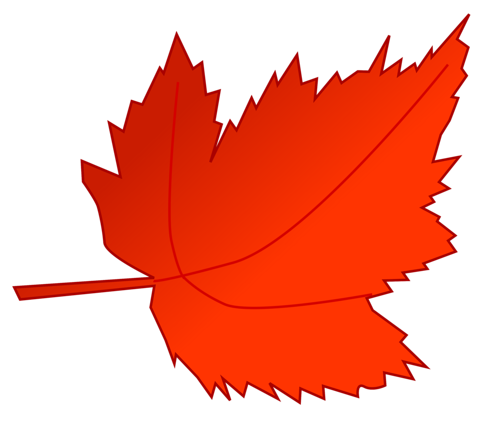 Illustration of a red autumn leaf : Free Stock Photo