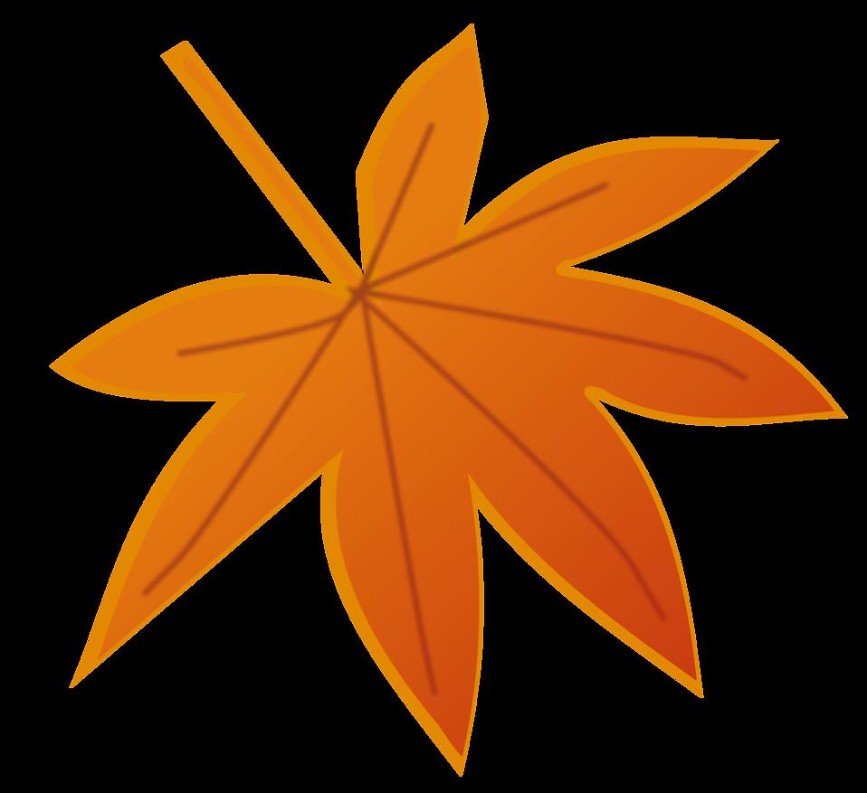 orange leaf clip art - photo #43