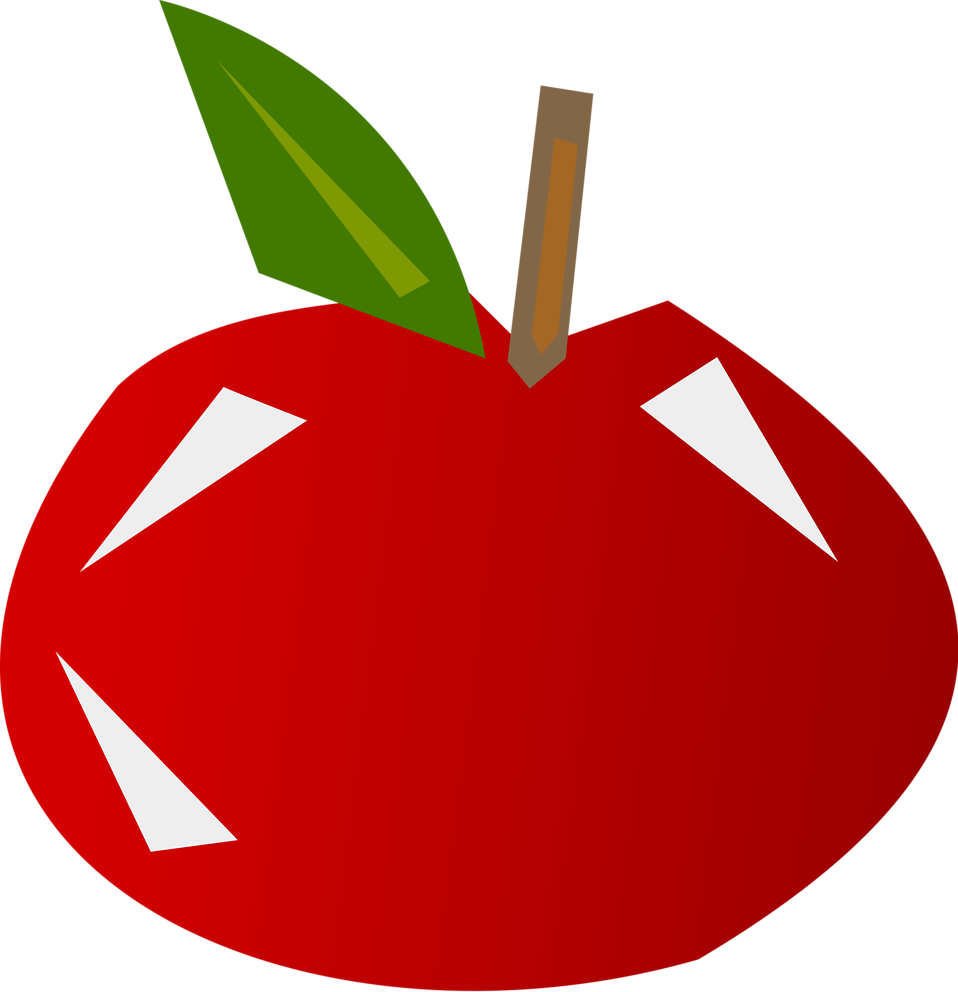 Illustration of a shiny red apple : Free Stock Photo