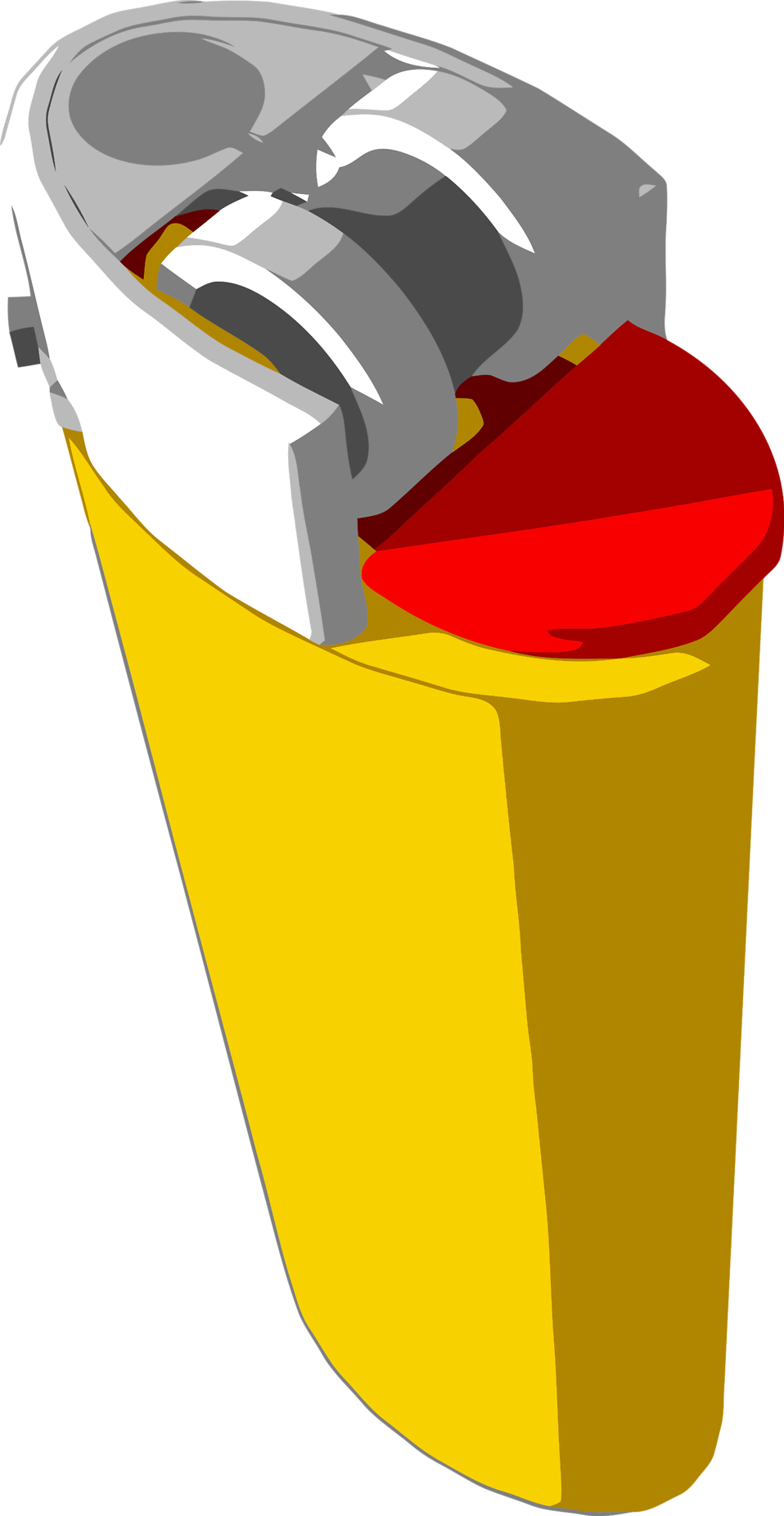 Illustration of a yellow lighter : Free Stock Photo