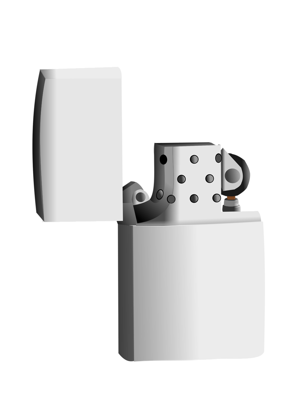 Illustration of a silver lighter : Free Stock Photo