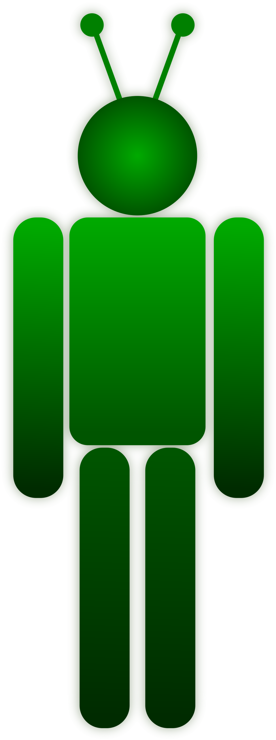 Illustration of a green cartoon robot : Free Stock Photo
