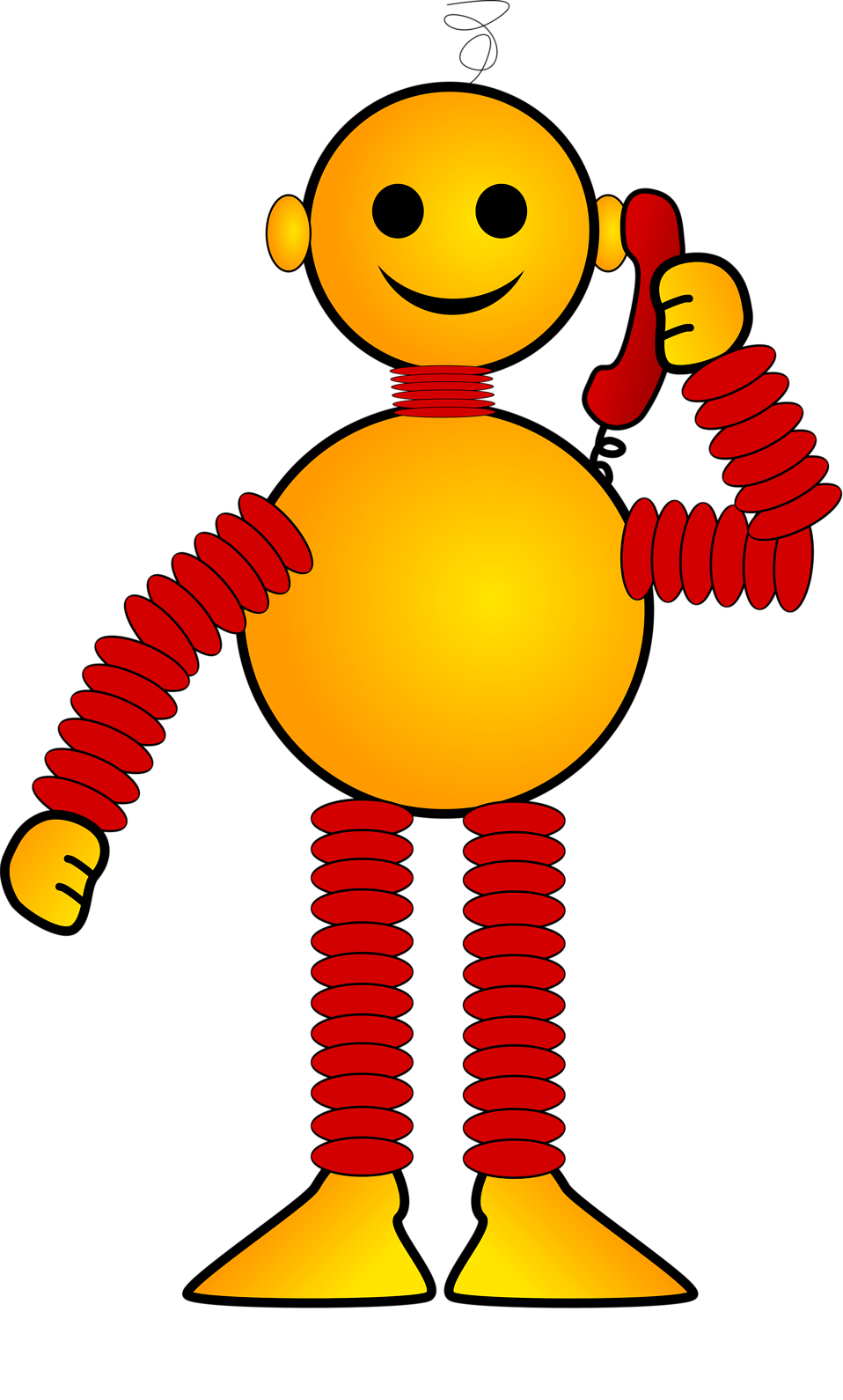 animated robot clipart - photo #36